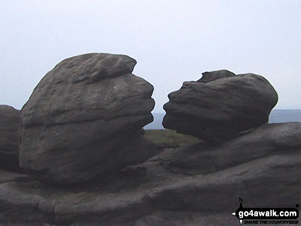 The famous 'kissing' Wain Stones