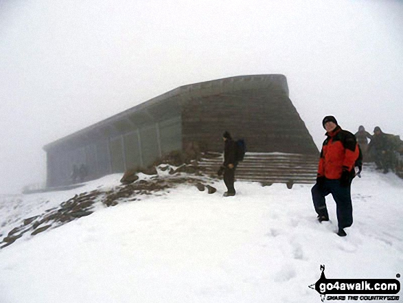 . . . round the other side of the cafe at the top of Snowdon. Walk route map gw110 Snowdon via The Snowdon Ranger Path photo