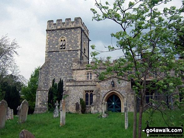 Walk bu109 Whiteleaf Cross from Great Kimble - Great Kimble church