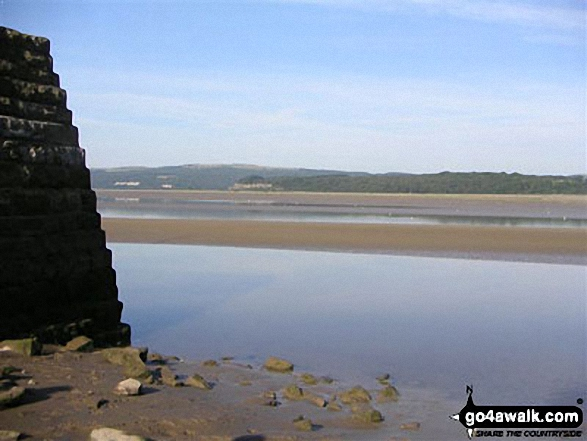 Arnside Pier - the start of an alternative coast to coast walk. Walk route map c353 Holme Fell and Black Fell (Black Crag) from Tom Gill photo