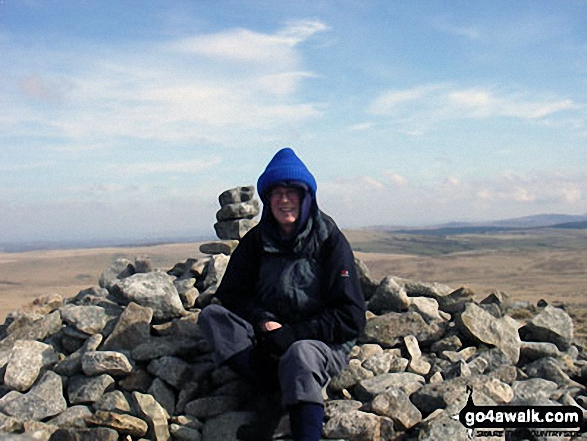 On the summit of Brown Willy. Walk route map co168 Brown Willy and Bodmin Moor from St Breward photo