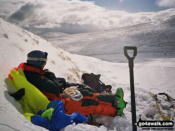 Myself on Ben Lawers in The Lawers Group Perth and Kinross Scotland