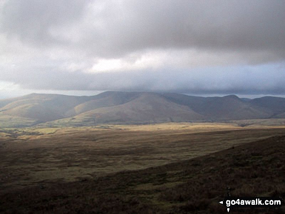 The view north to the Howgill Fells from Baugh Fell (Tarn Rigg Hill)