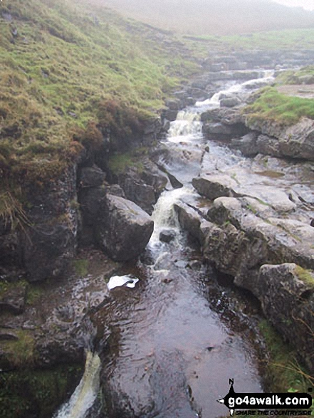 Fell Beck just before pouring into Gaping Gill