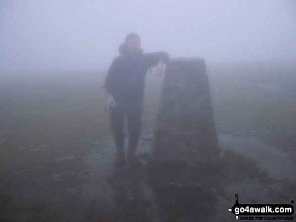 Ingleborough Summit in mist