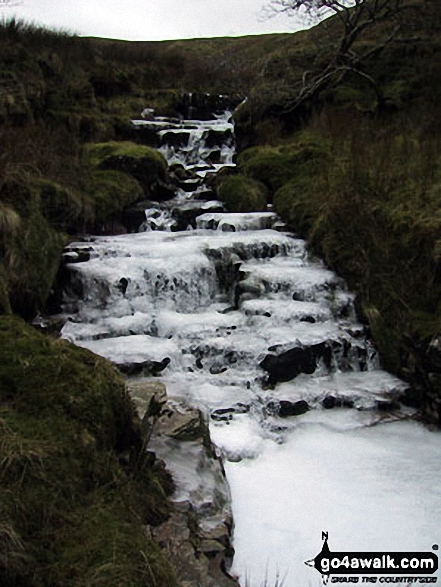 An icy Rawthey Gill on Holmes Moss