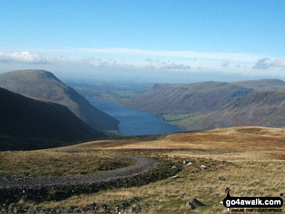 Wast Water from Lingmell. Walk route map c233 Sca Fell and Scafell Pike from Wasdale Head, Wast Water photo