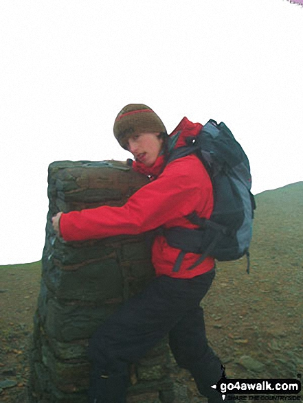 Helvellyn summit. Walk route map c192 Helvellyn Ridge from Glenridding photo
