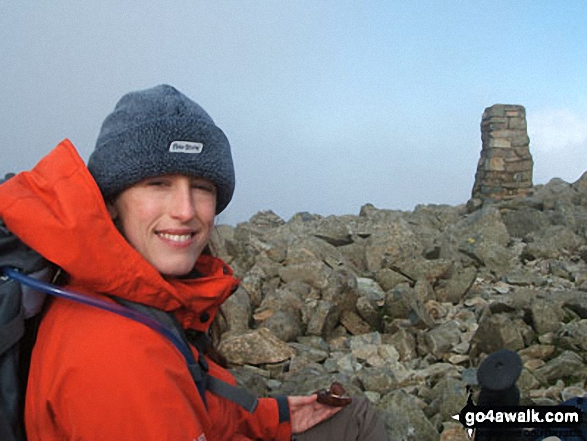 Malt bread on the top of Scafell Pike summit