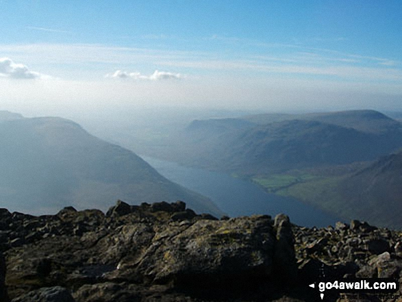 Illgill Head and Wast Water from Sca Fell. Walk route map c271 The Scafell Massif from Wasdale Head, Wast Water photo