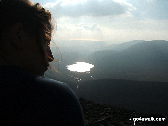 Burnmoor Tarn and Illgill Head from Sca Fell