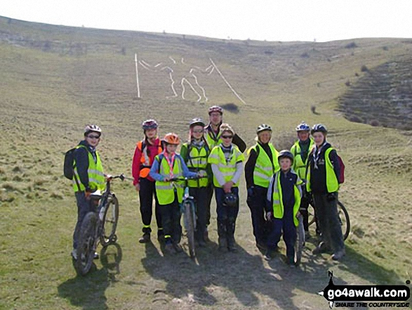 4th Sevenoaks Scouts Cycle Expedition at The Long Man of Wilmington