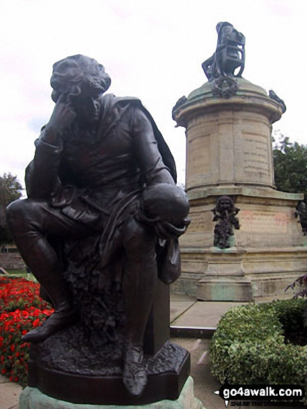 Shakespeare's Monument in Stratford-upon-Avon