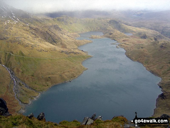 Llyn Llydaw from The Watkin Path route up Mount Snowdon