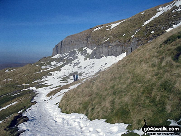 Pen-y-ghent Side Scar in the snow
