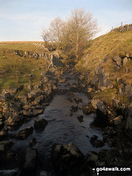 Brow Gill Beck from God's Bridge. Walk route map ny321 The Yorkshire Three Peaks Challenge as a 2 day walk - Day 1 from Horton in Ribblesdale (New 2013 Route) photo