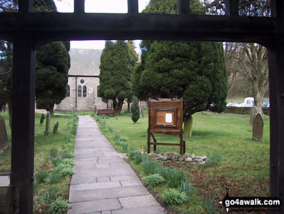 The Church of St Mary and St John, Hardraw. Walk route map ny149 Great Shunner Fell from Hawes photo