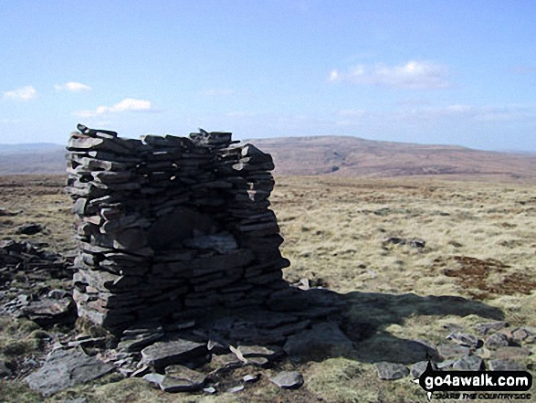 Unusual cairn on the summit of Lovely Seat