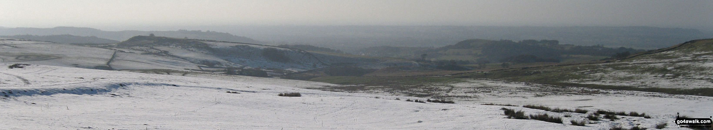 Looking South West from Sponds Hill in the snow