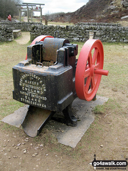 Ancient machinery used to quarry millstone grit in Tegg's Nose Country Park