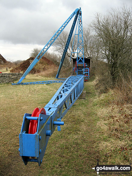 Ancient crane used to quarry millstone grit in Tegg's Nose Country Park