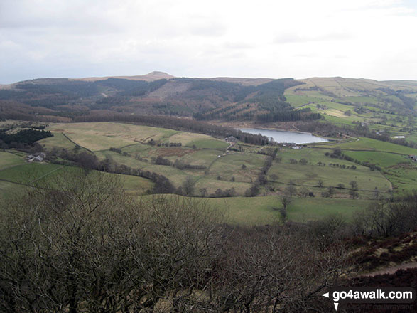 Shutlingsloe and Ridgegate Reservoir from the summit of Tegg's Nose