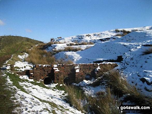 Culvert on Sponds Moor in the snow