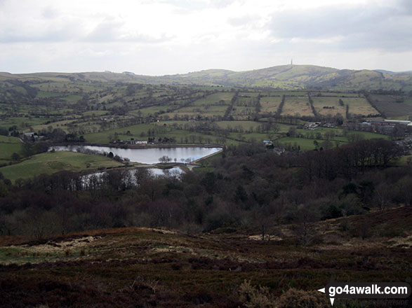 Ridgegate Reservoir and Croker Hill from Tegg's Nose