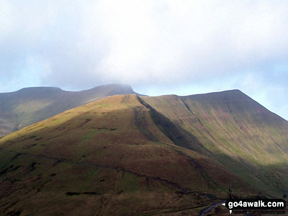 Cribyn with Pen Y Fan beyond from Fan y Big