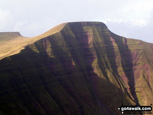 Walk Pen y Fan walking UK Mountains in The Brecon Beacons Area The Brecon Beacons National Park Powys    Wales