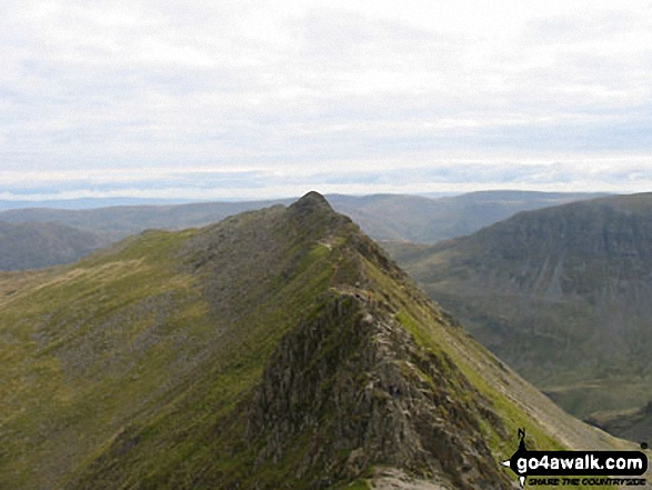 The famous Striding Edge from Helvellyn
