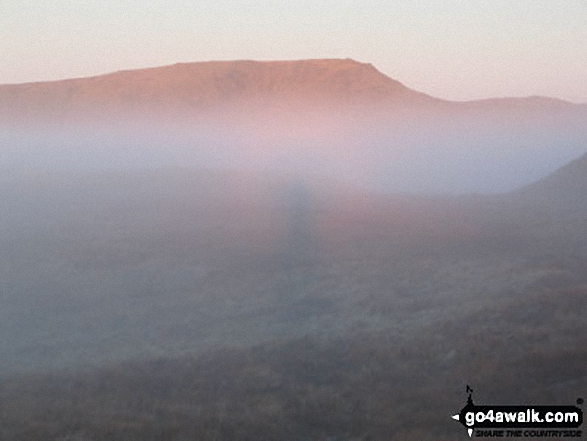 A Brocken Spectre (almost) with Red Screes beyond from the lower slopes of Yoke