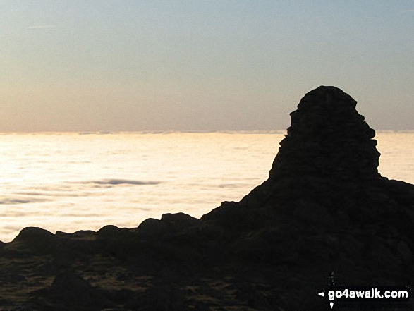 Looking South from the summit of Ill Bell across cloud trapped by a temperature inversion
