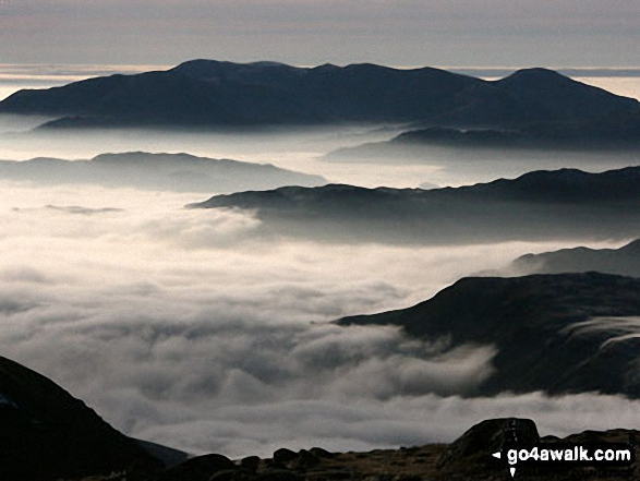 Temperature Inversion seen from the summit of Helvellyn