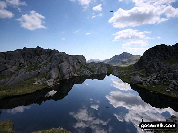 Walk Picture/View: Wainwrights unnamed 'perfect mountain tarn' between Glaramara and Allen Crags in The Lake District, Cumbria, England by Paul Johnson (23)