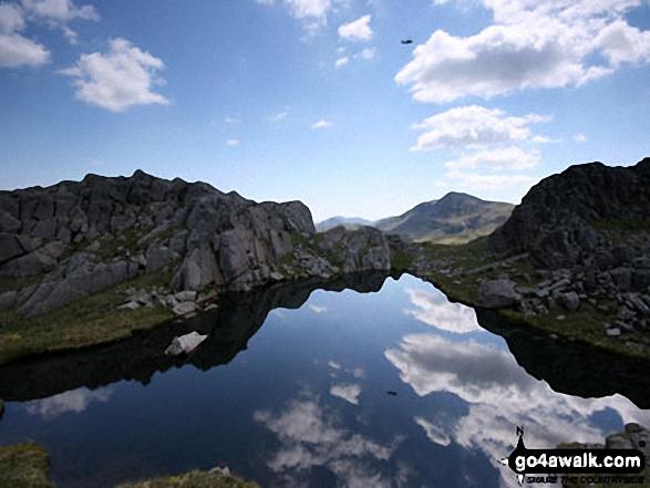Wainwrights unnamed 'perfect mountain tarn' between Glaramara and Allen Crags