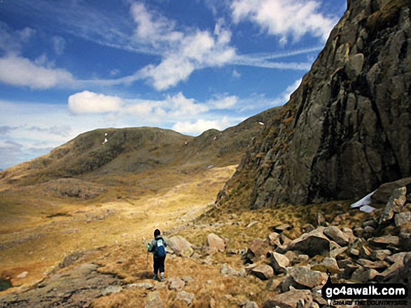 Great End from Broad Crag buttress, just off the corridor route to Scafell Pike
