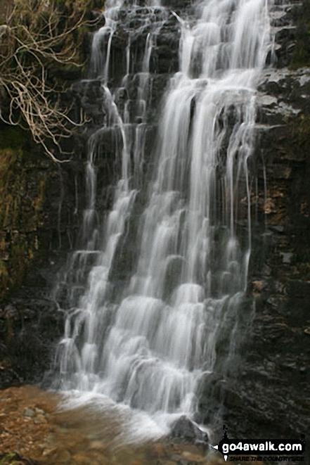 Buckden Beck Waterfall. Walk route map ny137 Buckden Pike via Buckden Beck from Buckden photo
