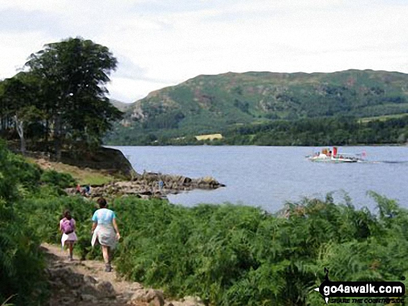 Ullswater Steamer from the Ullswater Shore path