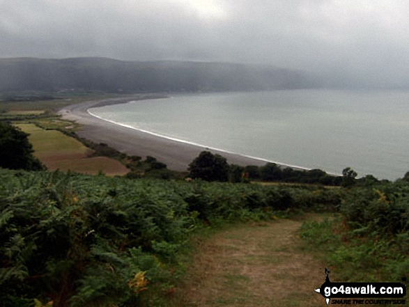 Porlock Bay and Culborne Hill from Hurlstone Point