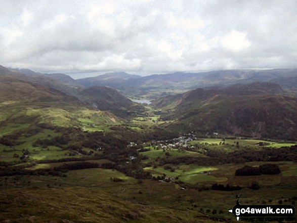 Beddgelert & Nantgwynant from the lower slopes of Moel Hebog