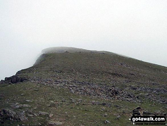 On Moel Hebog in mist