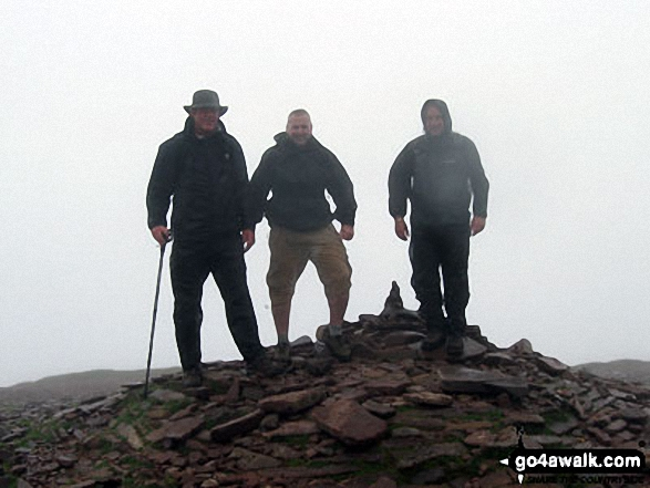 On the summit of Pen y Fan