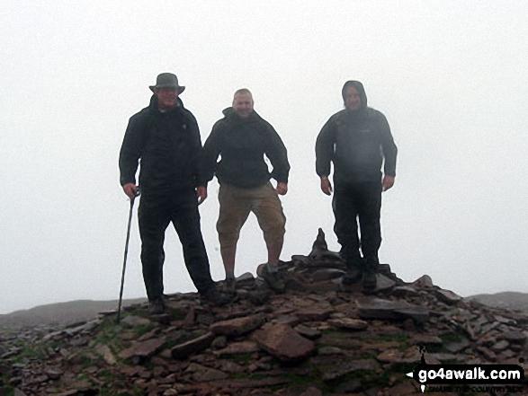 Walk po158 Pen y Fan from The Storey Arms Outdoor Centre - On the summit of Pen y Fan