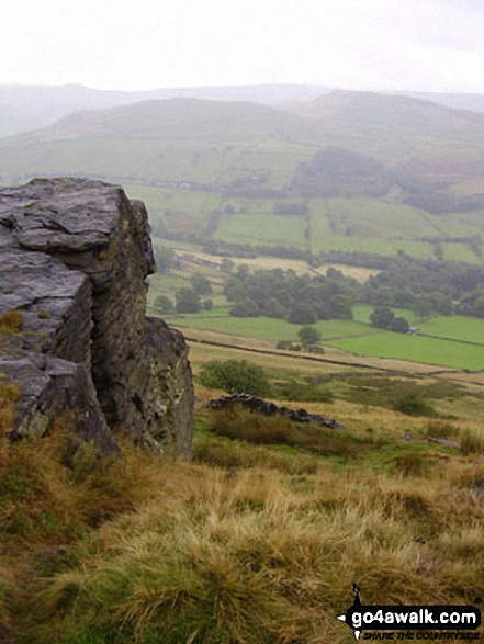Walk d147 Cracken Edge from Hayfield - Mount Famine and Kinder Scout from Chinley Churn