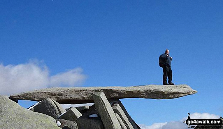 On the cantilever stone on Glyder Fach last sunday
