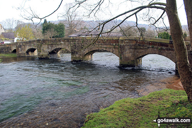 Holme Bridge over the River Wye near Bakewell