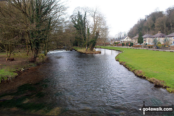 Walk d154 Over Haddon, Sheldon and Ashford in the Water from Bakewell - The River Wye from Holme Bridge