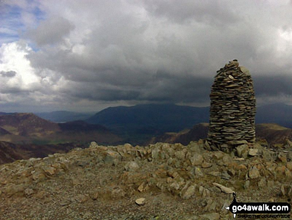 Dale Head (Newlands) summit cairn. Walk route map c100 The Newlands Horseshoe from Hawes End photo