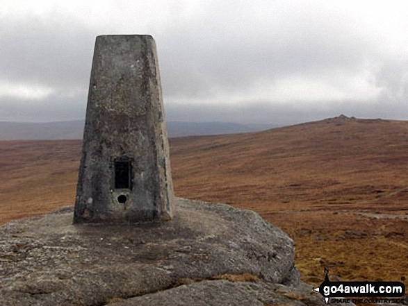 High Willhays from the trig point on Yes Tor
